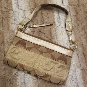 COACH Gold Stripe Handbag